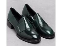 & OTHER STORIES - STUD LEATHER LOAFERS SIZE 8/41