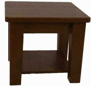 Mennonites handcrafted solid maple wood coffee side tables