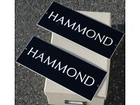 HAMMOND signs x 2