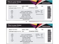 2 tickets to SW4 on SUNDAY