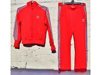 "Adidas 12 Ladies Red with Light Blue Sports / Leisure Tracksuit C40"" and W32-40"""