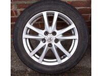 "Toyota Avensis Alloy Wheels 17 ""2009 onwards T27 model."