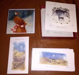 17 Christmas cards & Wrapping paper & Luxury tags - Debenhams ~ M&S ~ Charity - Free to collect