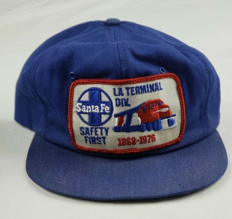Santa Fe Railroad L.A. Terminal Division Safety First Patch Trucker Hat Vintage