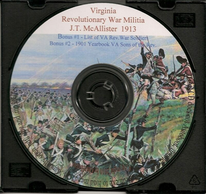 VA Militia in the Revolutionary War  - VA Genealogy