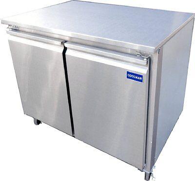 Coolman Commercial 2-door Low Boy Worktop Freezer 36