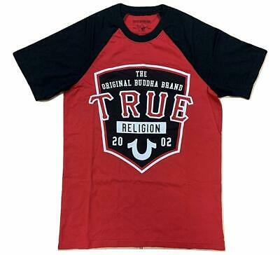 True Religion Men's Logo Raglan Crewneck Tee T-Shirt in -