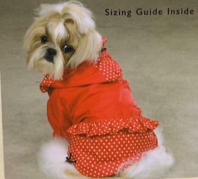 Polka Dot & Ruffle Red Dog Raincoat/Windbreaker - Red Pet Raincoat/Windbreaker East Side Collection Polka Dot