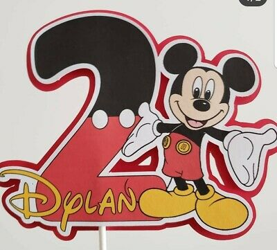 Mickey Mouse personalized Cake Topper, party decoration, centerpiece