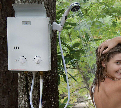 Eccotemp Re-Conditioned L5 Portable Tankless Water Heater And Outdoor Shower New