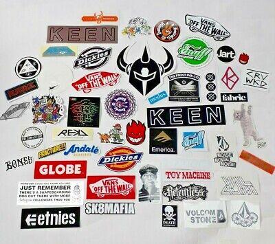 50+ Genuine Skateboard Stickers Skate Vans Spitfire Volcom Dickies Thrasher