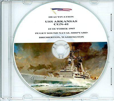 USS Arkansas CGN 41 Decommissioning Program 1997 on CD Navy