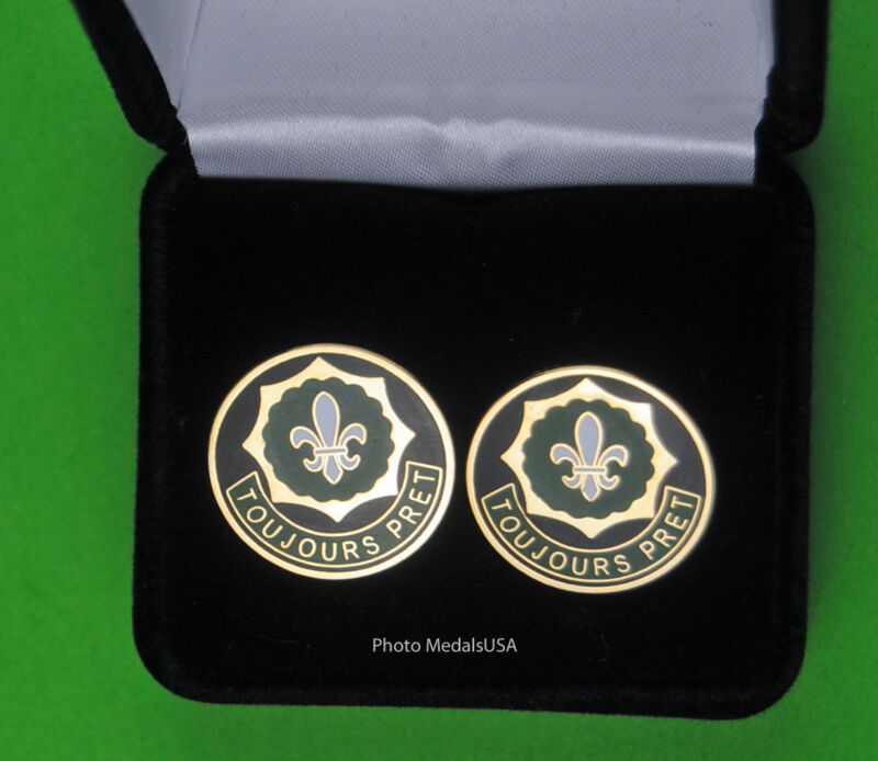 2ND ARMORED CAVALRY REGIMENT Army Cuff Links  2nd ACR TOUJOURS PRET