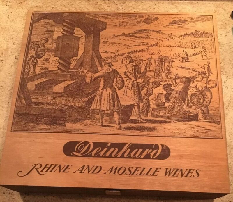 Rhine And Moselle Wines Vintage Wooden Box Deinhard