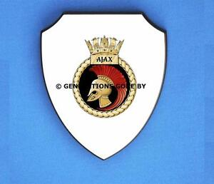 HMS AJAX WALL SHIELD (FULL COLOUR)