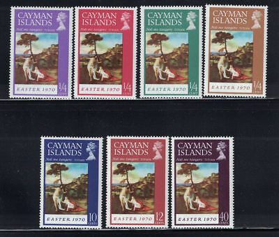 Cayman Isles 1970: #251-257 - 7 NH Stamps: Paintings, Religion; Lot#4/22