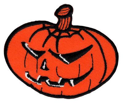 aa27 Kürbis Orange Halloween Aufnäher Bügelbild Flicken Patch Kinder 7 x 5,7 cm