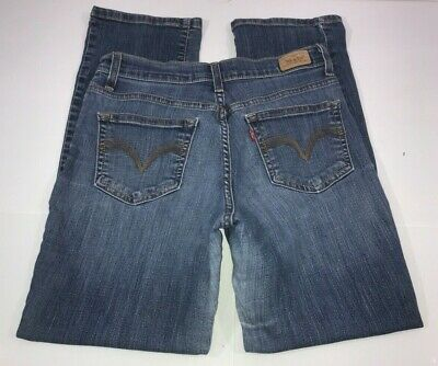 Levi's 512 Perfectly Slimming Straight Leg Blue Jeans Women's Size 10 (30x30)