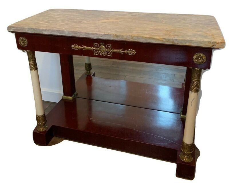 20th Century Spanish Marble Top Side Table