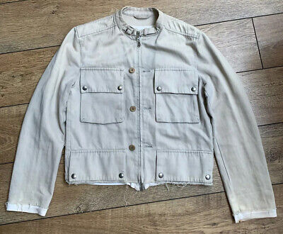 Vintage / Archive Hussein Chalayan Cropped Cafe Racer Jacket Beige S