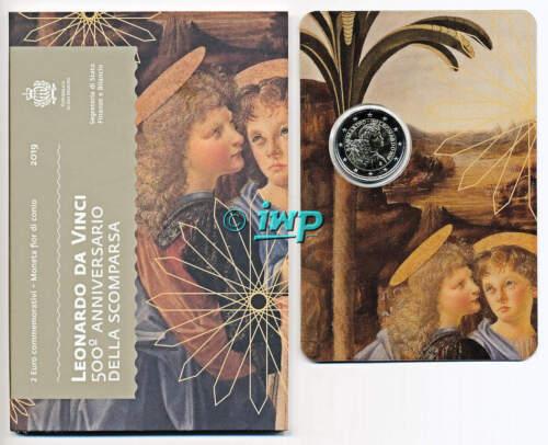 + 2 EURO € Gedenkmünze SAN MARINO 2019 - Leonardo da Vinci - SOFORT LIEFERBAR +