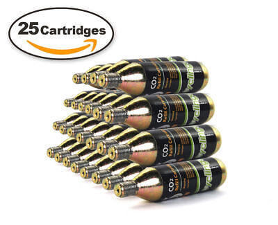 25 x 16g Threaded CO2  Cartridges Refills For Bike Bicycle Pump Inflator