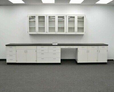15 Base 9 Upper Laboratory Cabinet Group Furniture  Tops E1-555