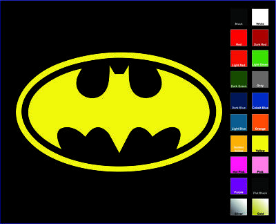 Batman OL Decal / Sticker - Choose Color & Size - Logo, Symbol, Bruce Wayne * Mirror Decal Sticker