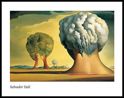 Salvador Dali Les trois sphinx de bikini Poster Kunstdruck im Rahmen 60x80cm