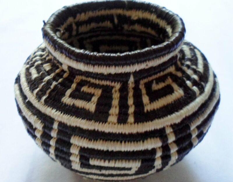 Wounaan Embera Woven Classic Design Basket-Panama 20063003mm
