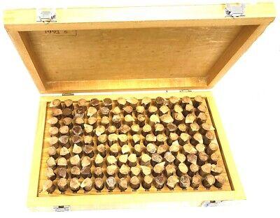 Wooden Case 125 Pc M3- .501-.652 Inch Plug Pin Gage Set Minus - Steel . New