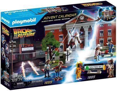 PLAYMOBIL BACK TO THE FUTURE ADVENT CALENDAR CHRISTMAS 97PC BRAND NEW 70574 +5