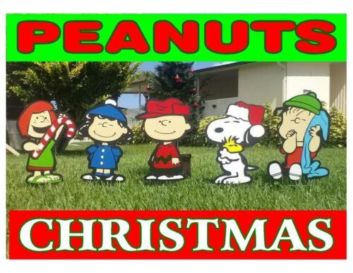 Peanuts Snoopy COMBO Christmas Yard Lawn Art Decorations