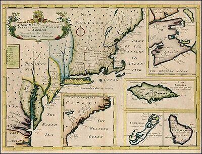 Reproduktion Antik Landkarte der Karibik Inseln Jamaika America, Edward Wells