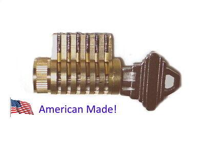 Cutaway Lock Locksmith Practice And Training. 6 Pin Schlage Brass Cylinder