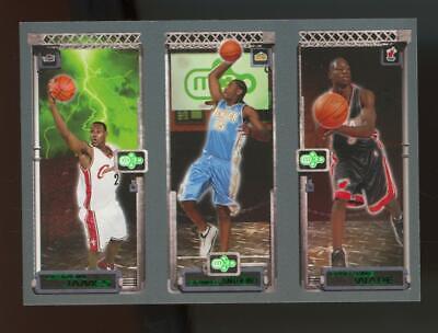 2003 Topps Matrix Dwyane Wade Carmelo Anthony LeBron James RC Rookie