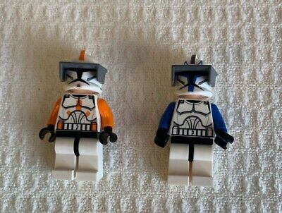 LOT OF 2 LEGO STAR WARS COMMANDER CODY AND COMMANDER CAPTAIN REX MINIFIGURES