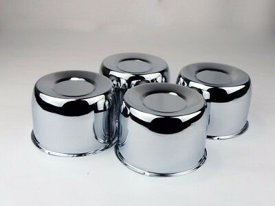 (4 Steel Short Chrome Center Caps For 4.25
