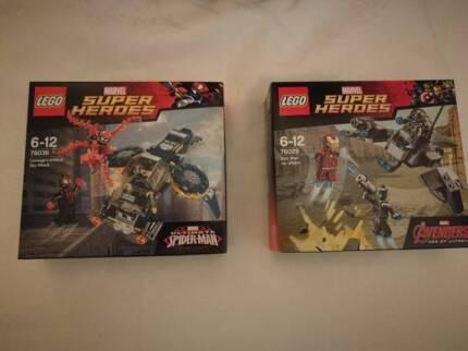 Lego Carnage 76036 and Lego Iron man vs ultron 76029