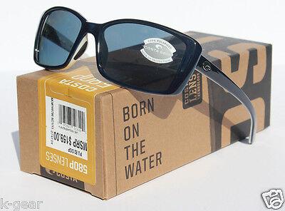 COSTA DEL MAR Pluma Sunglasses 580 POLARIZED Topaz White/Gray 580P (Costa Del Mar Wayfarer)