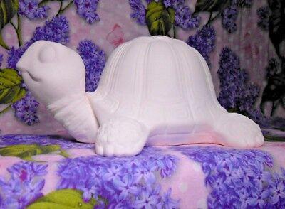 Garden Turtle Ceramic Bisque Ready to Paint
