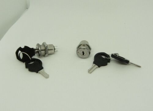 2x Pack 12mm Mini Lock Power Switch w Security Key On Off 3A 250V Button Set Kit