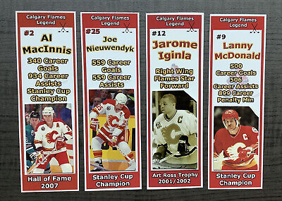 Calgary Flames / Lanny McDonald, Al MacInnis, Nieuwendyk, & Iginla Bookmark Set
