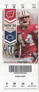 2013 WISCONSIN BADGERS VS PENN STATE NITTANY LIONS FOOTBALL TICKET STUB 11/30/13