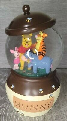 Disney Store Winnie The Pooh Piglet Eeyore Tigger Hunny Pot Snow Globe