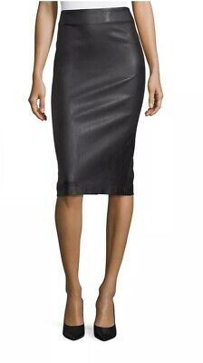 Theory 'Bristol' Leather Skinny Pencil Skirt, Size 0, $695, *Make An Offer!*