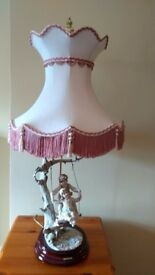 Figurine lamp with matching shade