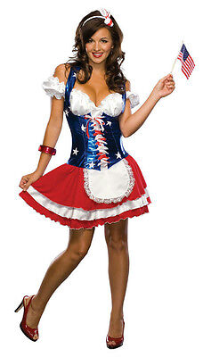 Sexy 4th of July Firecracker Adult Patriotic Women's Costume Size Small 2-6