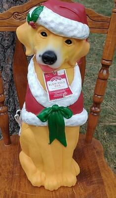 2 FT LIGHTED CHRISTMAS DOG GOLDEN RETRIEVER BLOW MOLD YARD INDOOR DECORATION