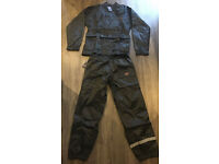 Motorcycle Waterproof Two Piece Overalls - Size M